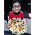 Sufyaan's healthy meal