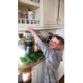 Sonny making a healthy juice for his family