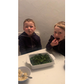 Eddie has baked his own kale crisps, amazing work!