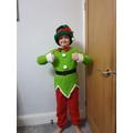 Cameron ready for Santa Dash!