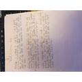 Cameron's beautiful handwriting
