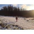 Brienne enjoying her winter walk