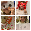 Voilet follows the steps to make an amazing superhero mask! Well done Voilet!
