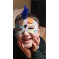 Oliver's amazing superhero mask!
