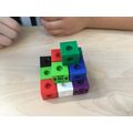 A three block pyramid. How many blocks were used?
