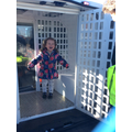 Having a go in the back of a police van!