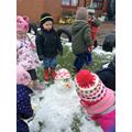 We made a snowman...well a little one!