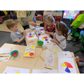 Exploring the colour wheel and the primary colours