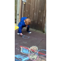 Mark making with chalk