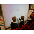 Name writing on the interactive whiteboard