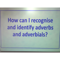 Identifying adverbs and adverbials in English.