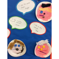 The children's faces and comments on our display.