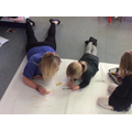 Mark Making on the floor is so much fun!