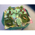 The children loved this Dinosaur garden