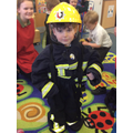 The children enjoyed trying on the gear.