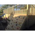 Climbing wall in Reception playground
