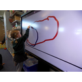 Exploring the interactive white board.