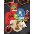 The children's Christmas creations