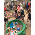 Sand and water fun!