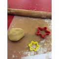 Making star cookies