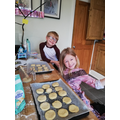 Annabelle has made scones with her brother.