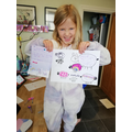 Anabelle's pictures & letters for Grandparents.