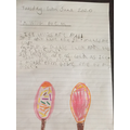 Oliver has written a fabulous lolly poem!