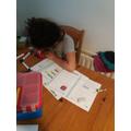 Mathematician hard at work!