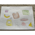 Lily's great food drawings!