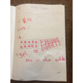 Max's super Maths work!