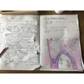 Grace's castle recount and drawing.