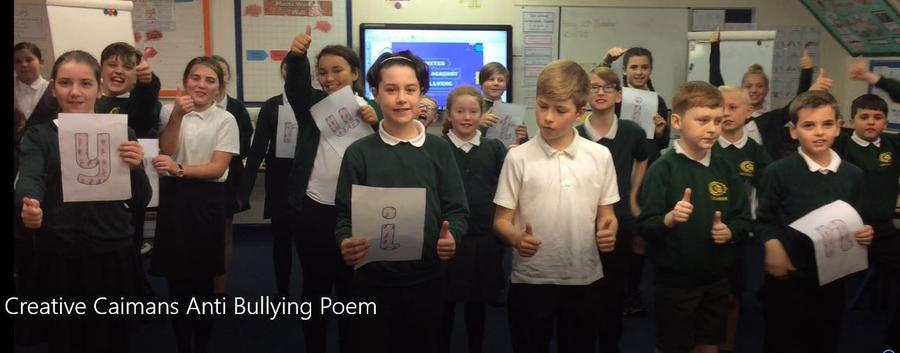We wrote and performed our own acrostic Anti-Bullying poem