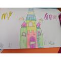 Imogen's colourful castle.