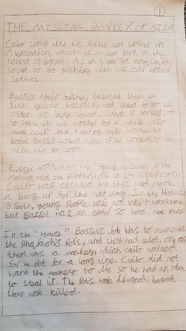 Harry's fabulous adventure story! Part 1...