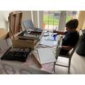 Leo in his art studio!