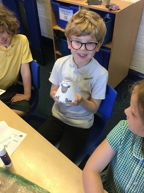 Isaac's finished sheep.