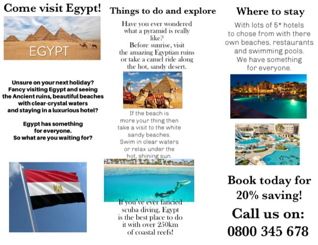 Harrison's amazing Egypt leaflet!