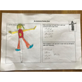 Grace planned her scarecrow carefully.