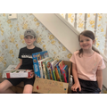Freya and her brother donated some books