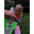 Molly conducted a rocket experiment ...