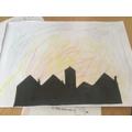 Evelyn's silhouette artwork.