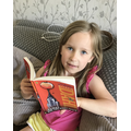 Poppy can't get enough of Roald Dahl books.
