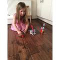 Poppy made THREE catapults- wow!