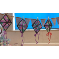 Quinn's stained glass kites