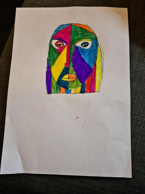 Maya's abstract portrait. Good job!