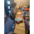 Zoe having fun doing Easter crafts!