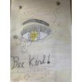 Sophia's 'Bee Kind' work.