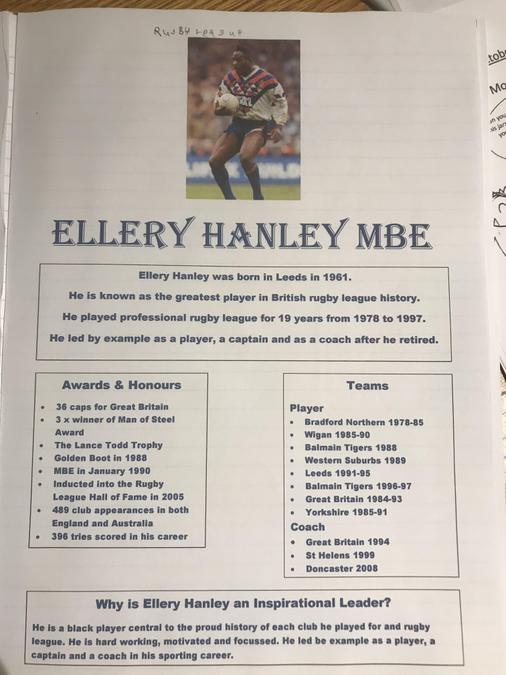 Tom researched Ellery Hanley for RE