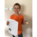 George has worked hard on his SPaG booklet.