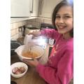 Bit of baking with Sophia.